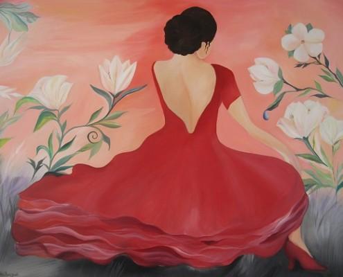 Mette Hansgaard maleri danserinde