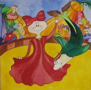 Børnebøger og illustrationer til bøger tegnes