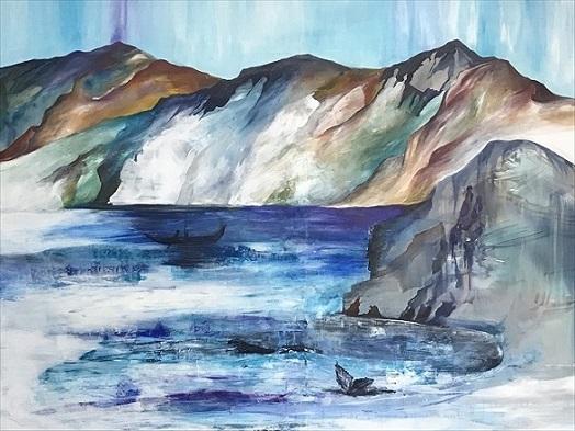 kunst maleri af Mette Hansgaard