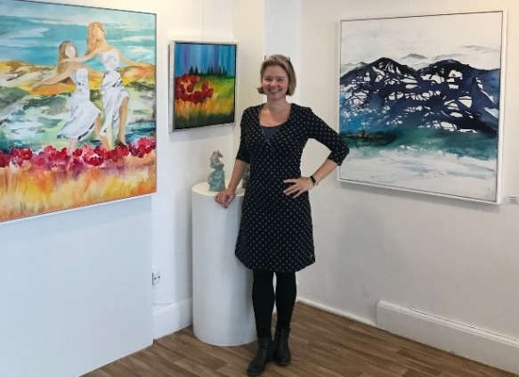 Mette Hansgaard kunstner og underviser i akvarel