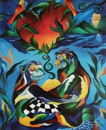 plakater med aber med kærlighed