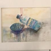 Klimaudstilling med kunst Mettes kunst