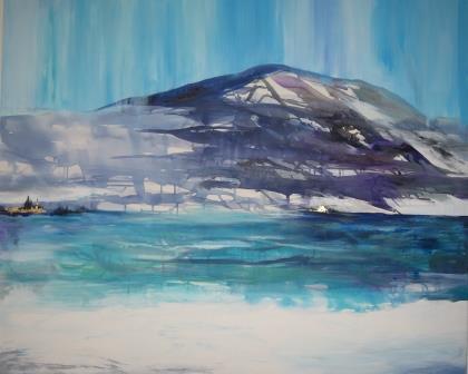 abstrakt maleri landskab maleri til salg