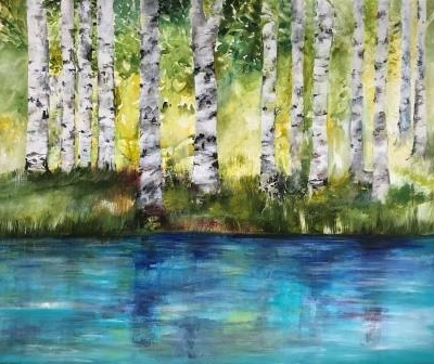 Billedkunstner Mette Hansgaard maleri til salg 110 x 90