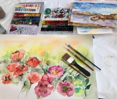 sådan kommer du i gang med at male akvarel
