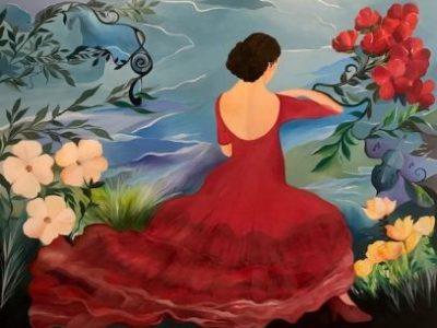 flamencodans malerier kunst online