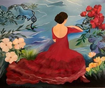 Malerier med flamencodansere online gallery