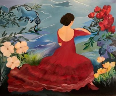flamencodans malerier kunst