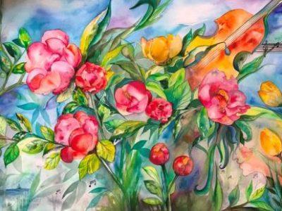 blomster-billede-akvarel-kunst-online-galleri