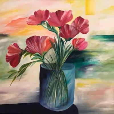 blomster maleri
