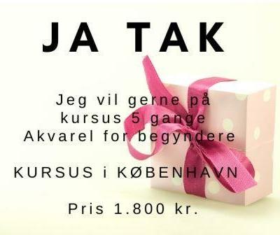 Akvarelkurser i københavn pris for program