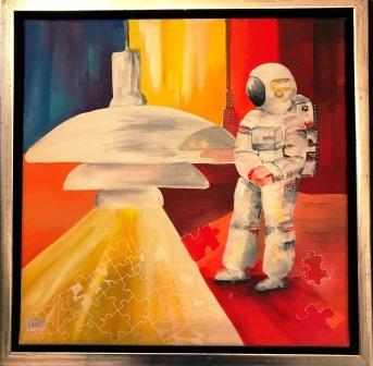 Maleri til salg online galleri astronaut world agenda