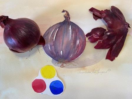 farveblanding i akvarel