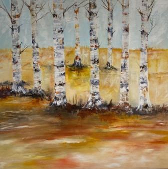 Maleri med natur. Store malerier