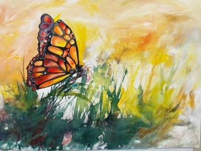 Sommerfugle maleri af en sommerdag