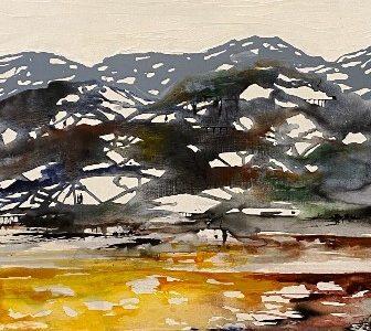abstrakt landskabsmaleri moderne kunst