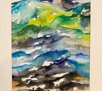 Akvarel maleri malet på papir