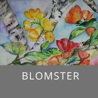 Blomster malerier til salg online