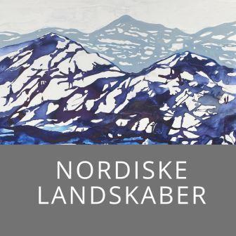 nordisk kunst malerier med moderne abstrakte landskaber