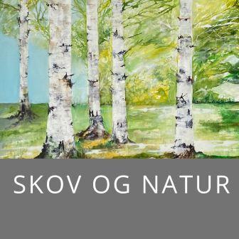 Malerier med birkeskove og skove fra Danmark