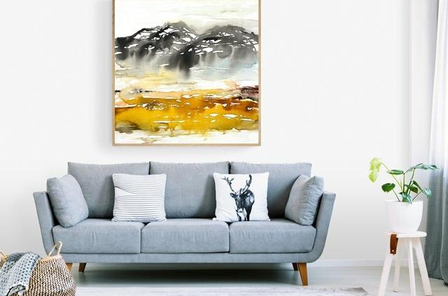bolig inspiration med kunst malerier til salg