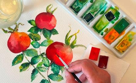 Giv et akvarelkursus til jul